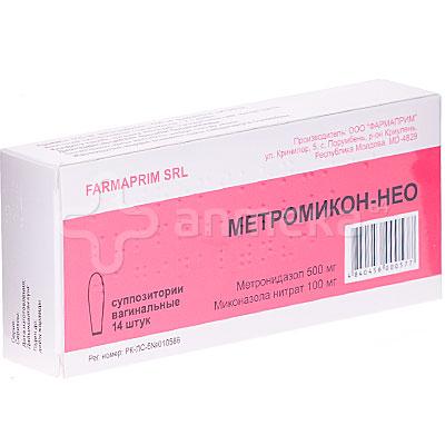 Метромикон-Нео 5 мг/1 мг супп ваг №14 /Фармаприм