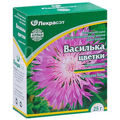 Купить цветки василька в аптеке