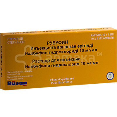 Рубуфин 10мг/мл р-р 1мл (налбуфин) 10 ампулы / Анальгетики, жаропонижающие / Лекарства / Каталог / Аптека 84. Доставка лекарств